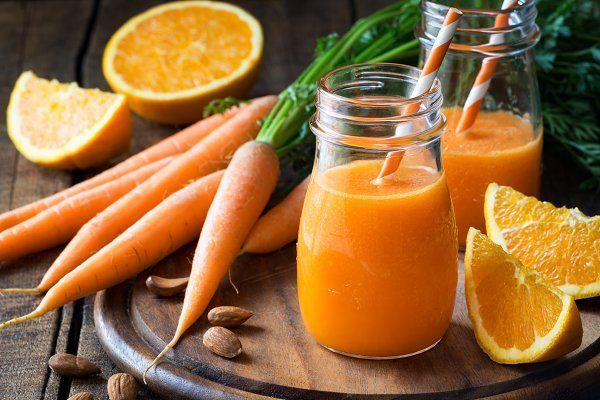 Orange juice of carrot and orange