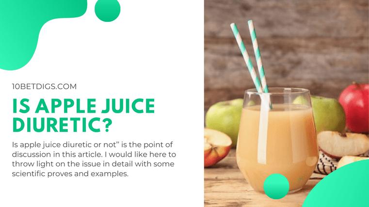 Is Apple Juice Diuretic