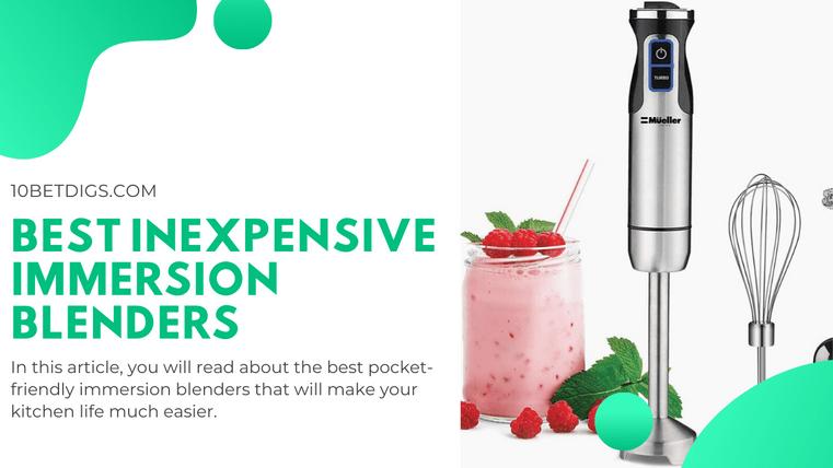 best inexpensive immersion blender